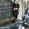 حضور دکتر یزدی و همسرشان بر مزار مرحومان مهندس سحابی و خانم هاله سحابی