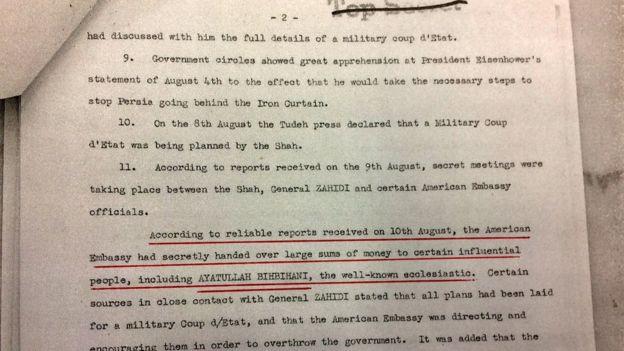 این سند که به نظر میرسد بخشهای حساس آن در سال ۲۰۰۱ میلادی از حالت سانسور بیرون آمده، در جدیدترین مجموعه اسناد وزارت امور خارجه آمریکا منتشر نشده است